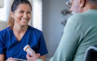 Home Health Nurse with Medication
